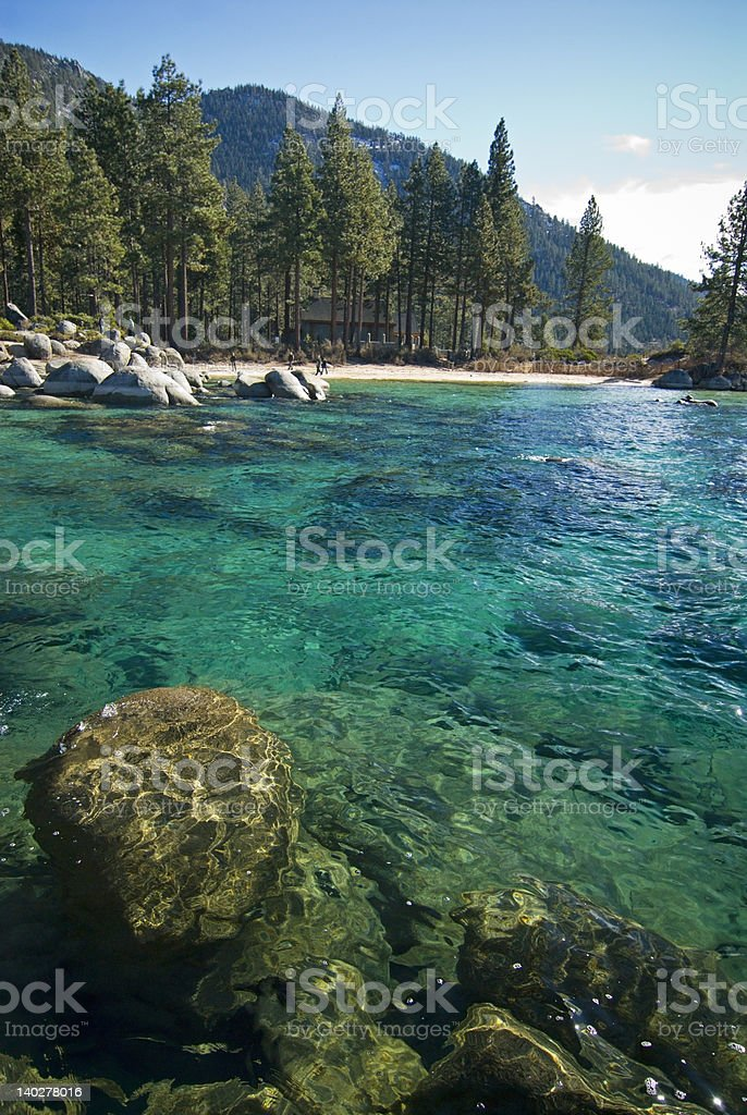 Sand harbor state park stock photo