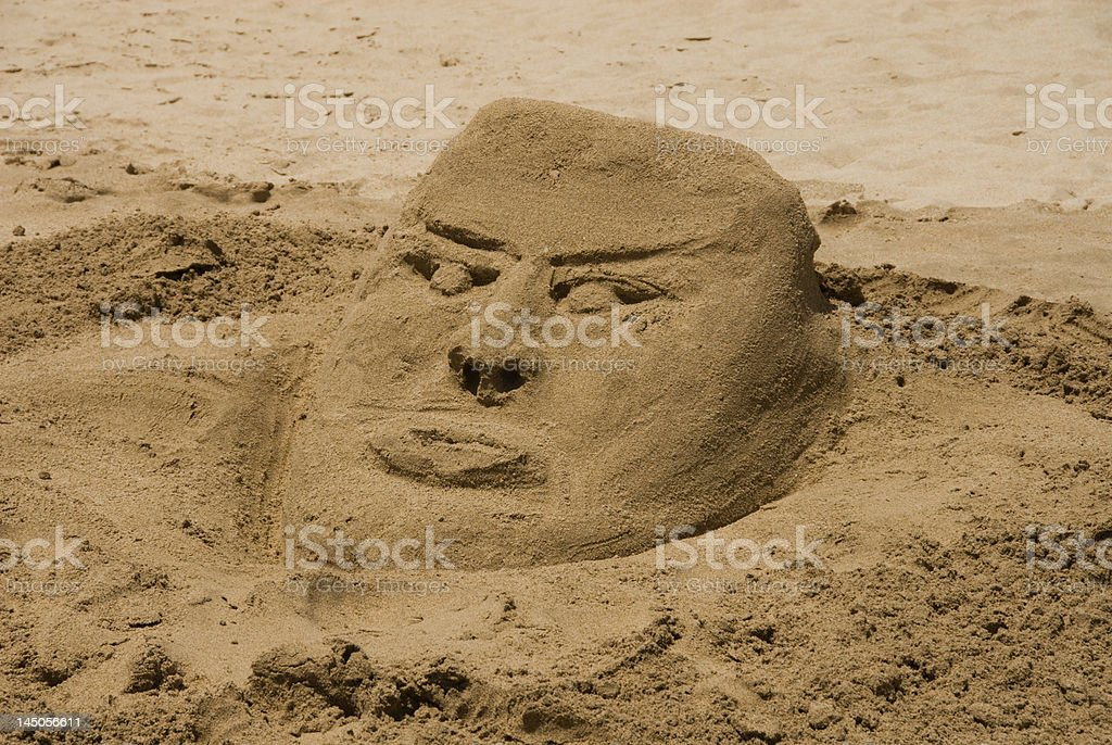 Sand Head stock photo