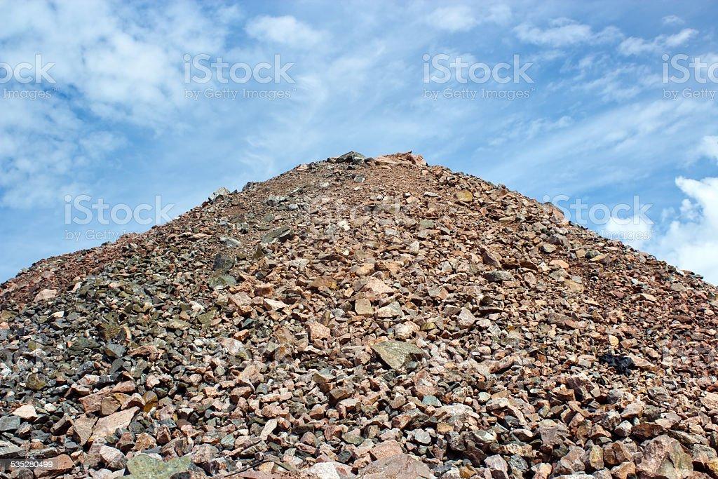 Sand heap royalty-free stock photo