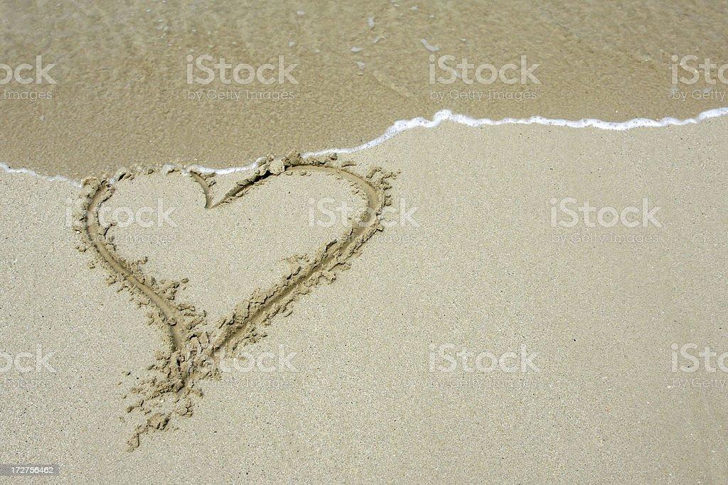 Sand heart # 8 royalty-free stock photo