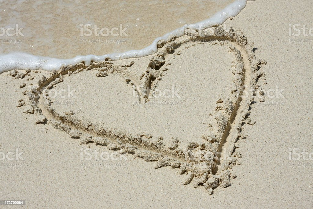 Sand heart # 7 royalty-free stock photo