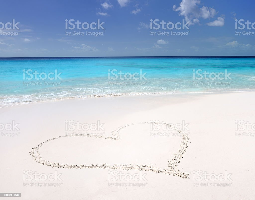 Sand Heart, Tropical Paradise Beach (XXXL) stock photo