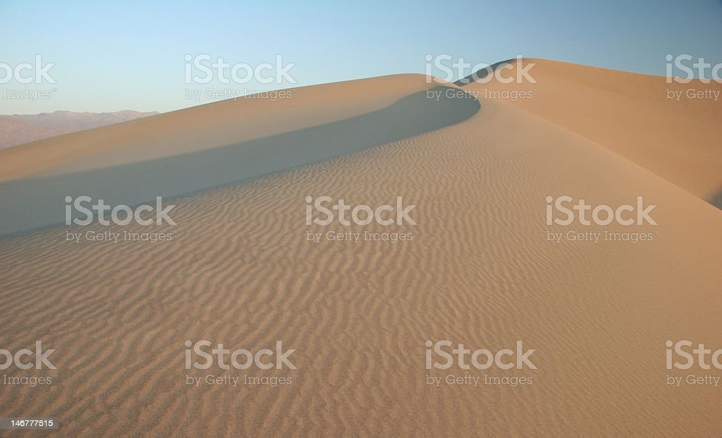Sand in Death Valley stock photo