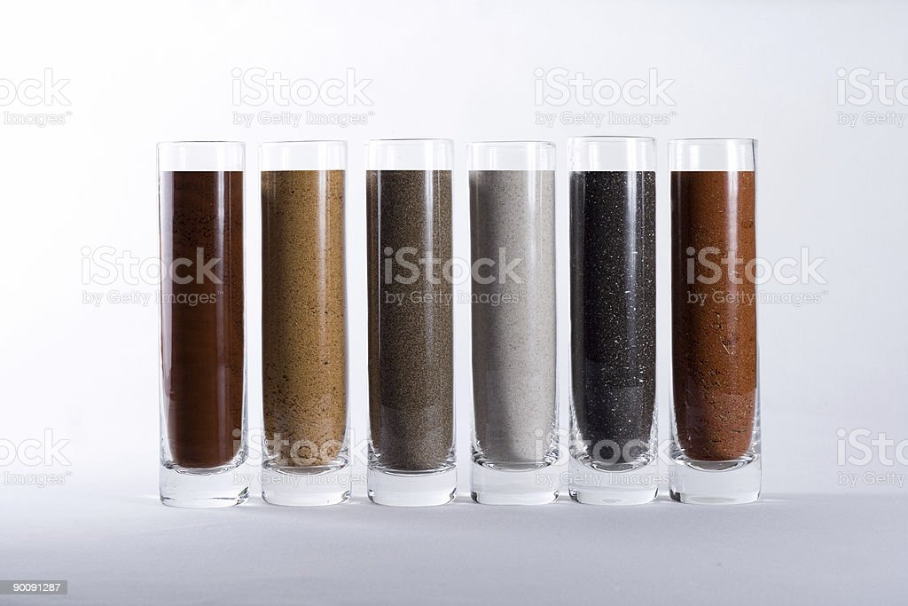 Sand in Line royalty-free stock photo