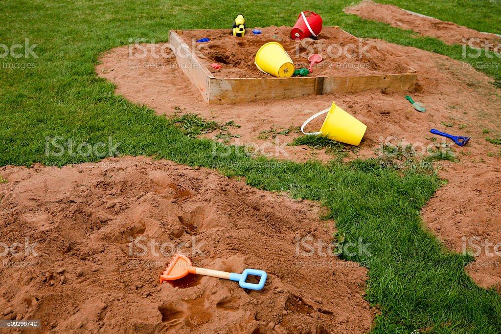 Sand is fun stock photo