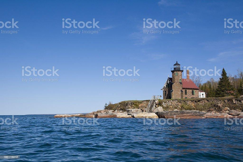 Sand Island Light Station stock photo