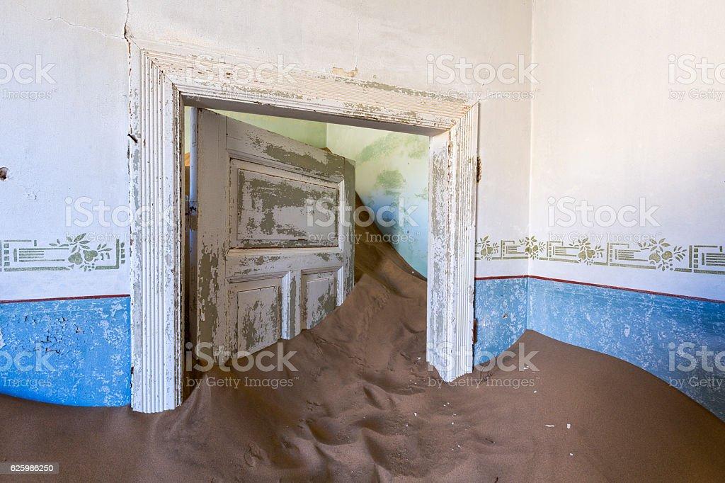 Sand keep the door open stock photo