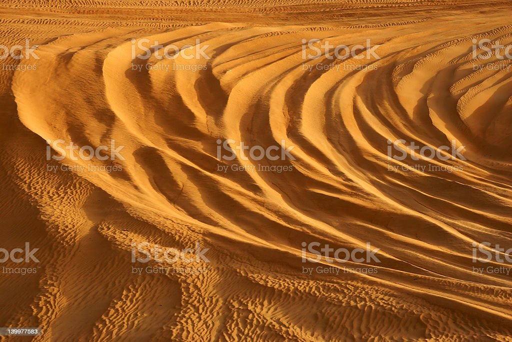 Sand Lines royalty-free stock photo