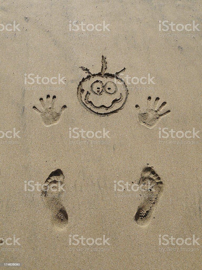 sand man stock photo