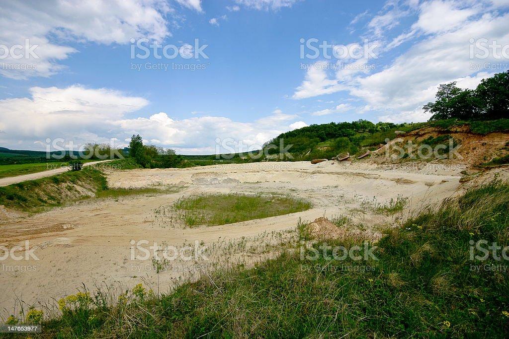 sand mine royalty-free stock photo