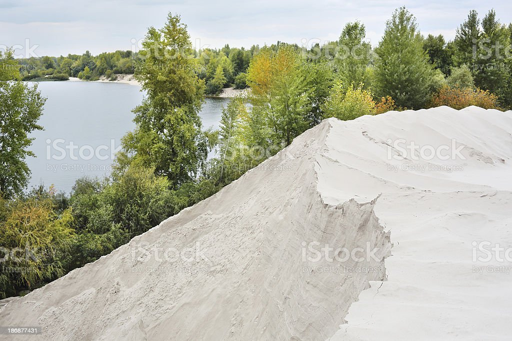 Sand mining royalty-free stock photo