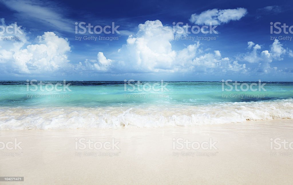 sand of beach caribbean sea royalty-free stock photo