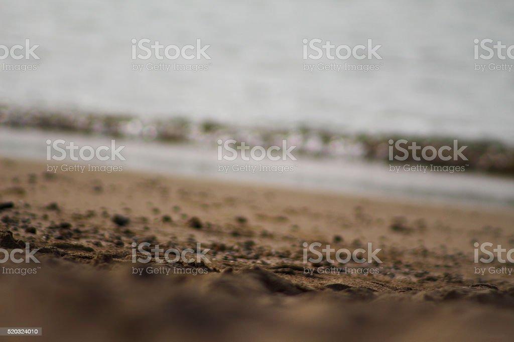 Sand of Waikiki Beach royalty-free stock photo