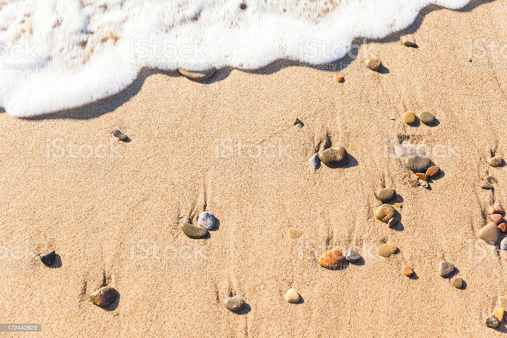 Sand on a beach royalty-free stock photo