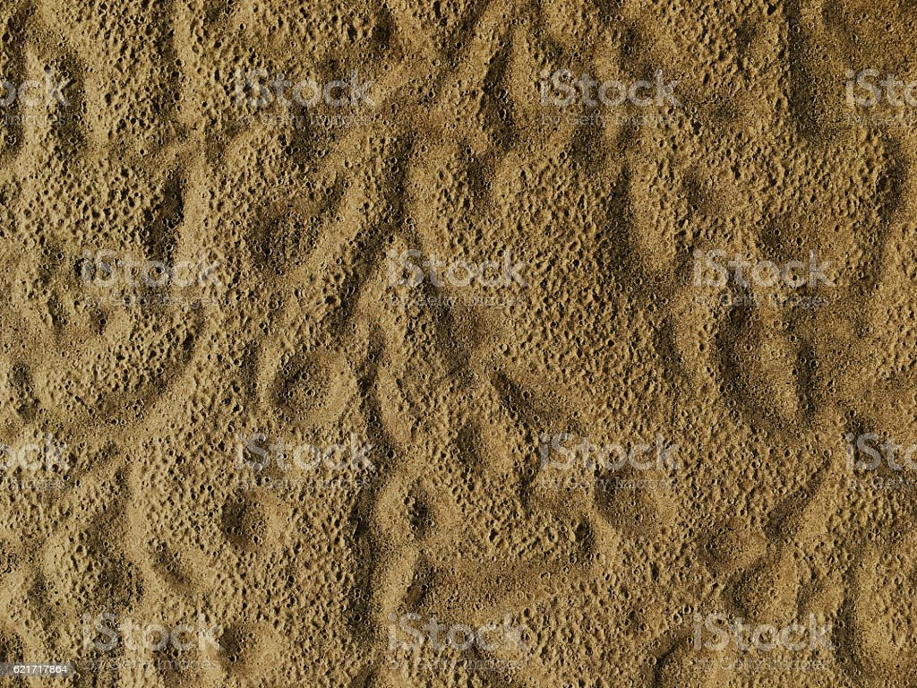 Sand pattern background, nearly dry sand after the rained royalty-free stock photo