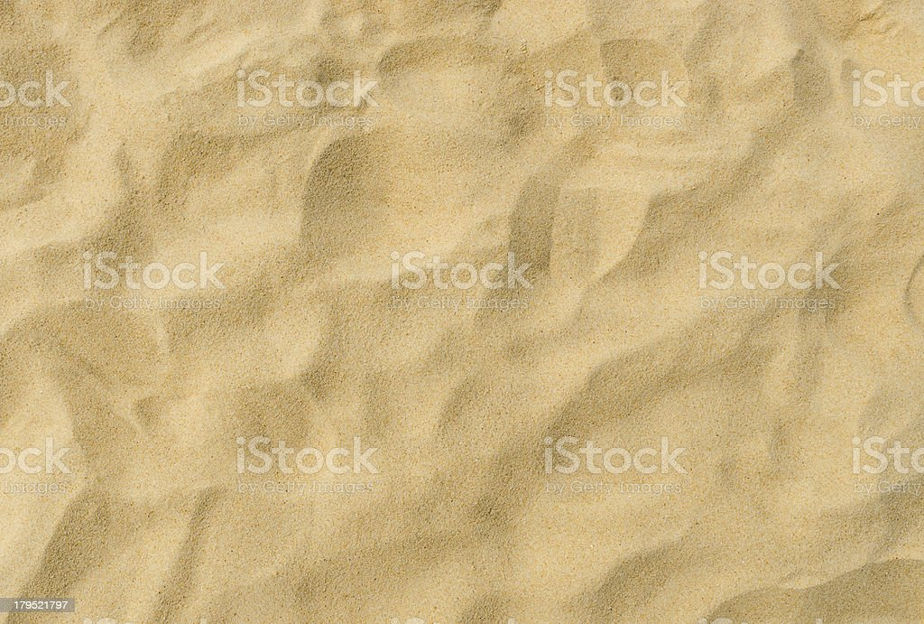 sand pattern of a beach in the summer stock photo