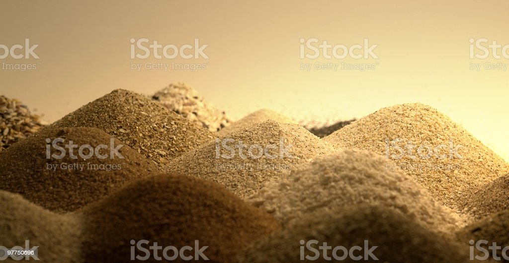 sand piles in warm ambiance royalty-free stock photo