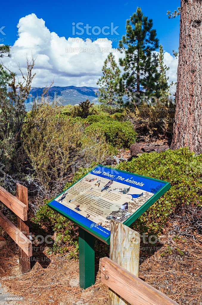 Sand Point Nature Trail, Lake Tahoe, USA stock photo