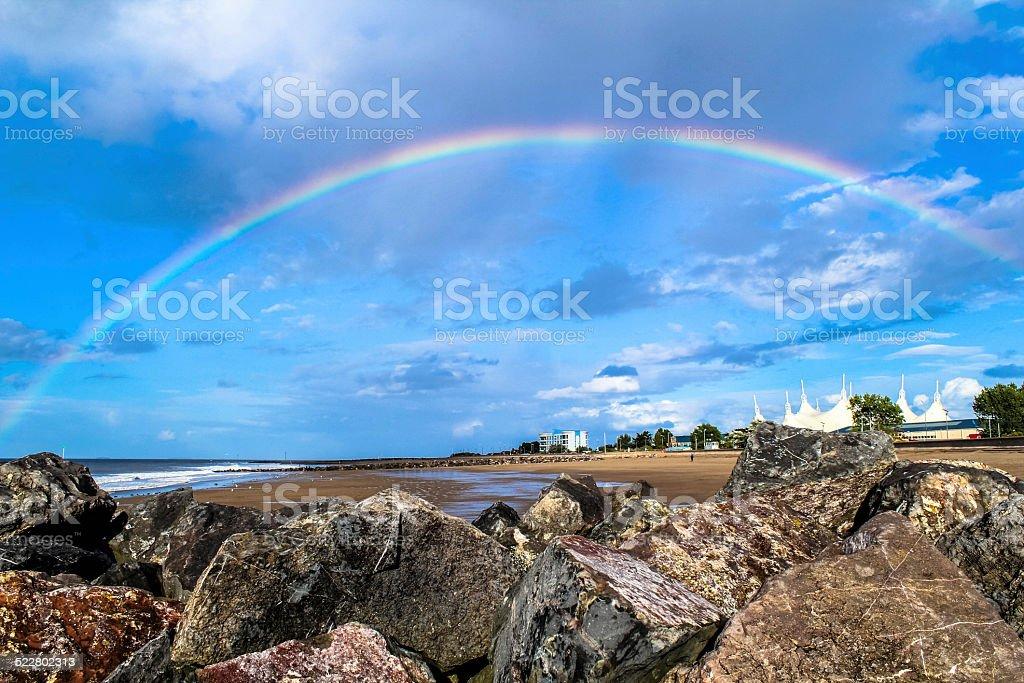 Sand Rainbow stock photo