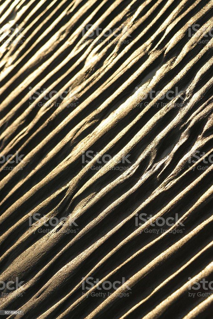 Sand ribs royalty-free stock photo