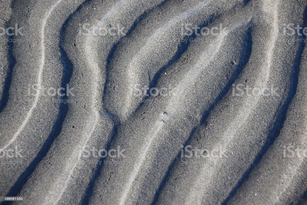 Sand Ripple Marks stock photo