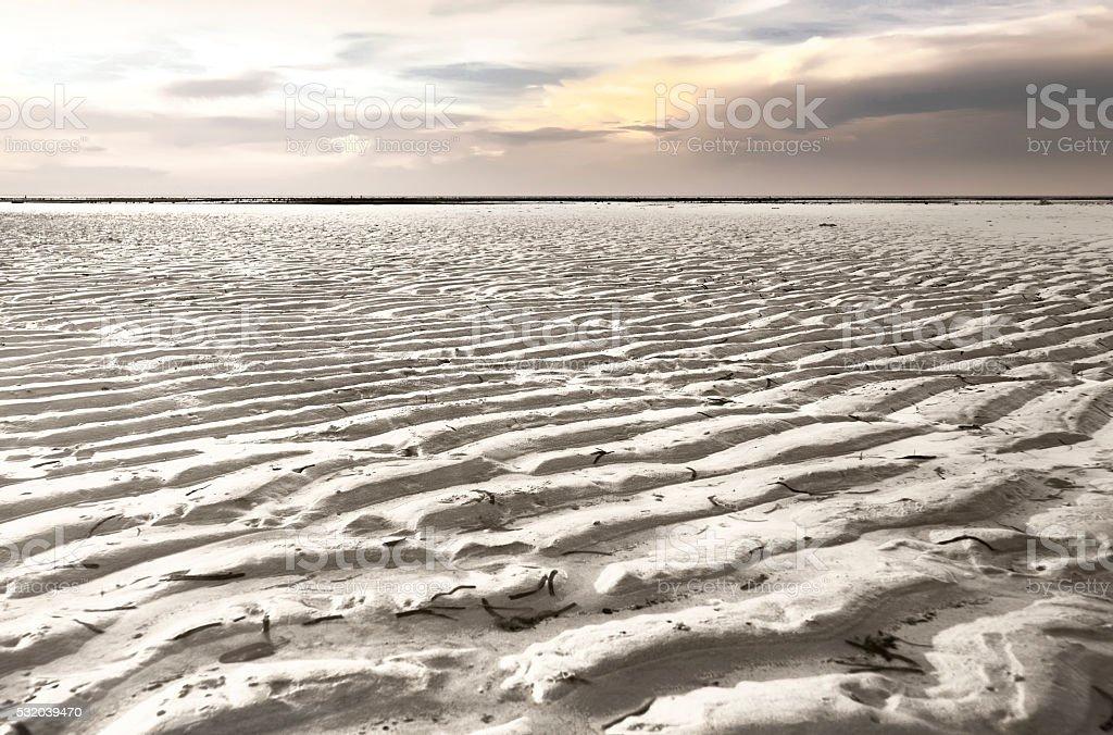 Sand Ripple On Walakiri Beach, Sumba, Indonesia stock photo