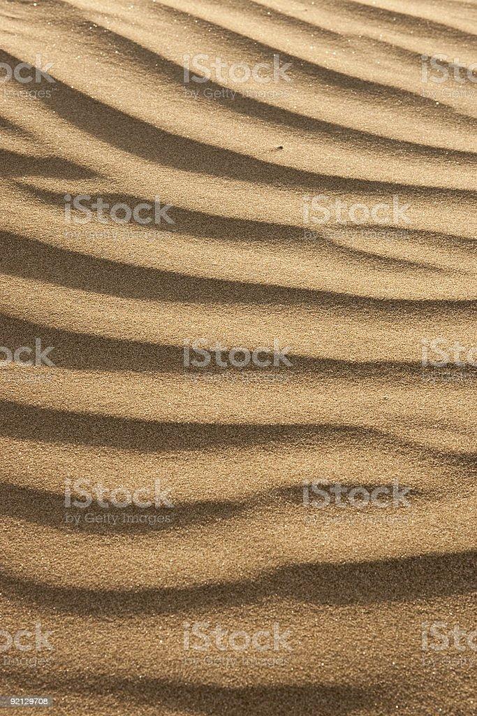 Sand Ripples Along Shoreline royalty-free stock photo