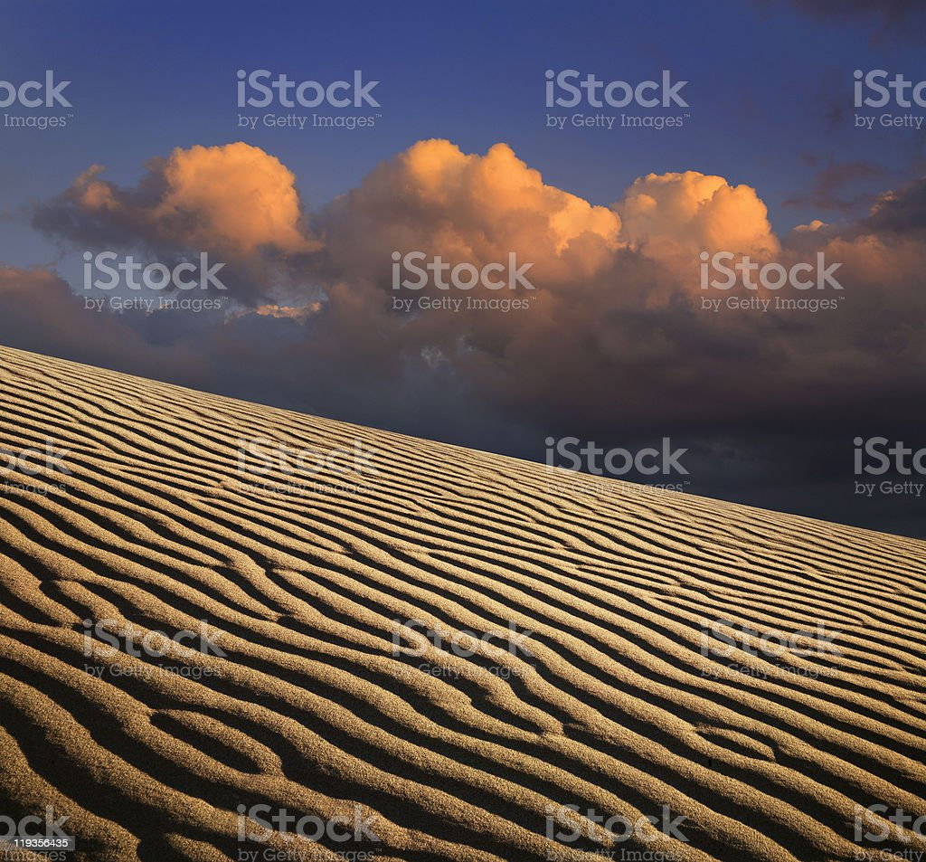Sand Ripples And Clouds royalty-free stock photo