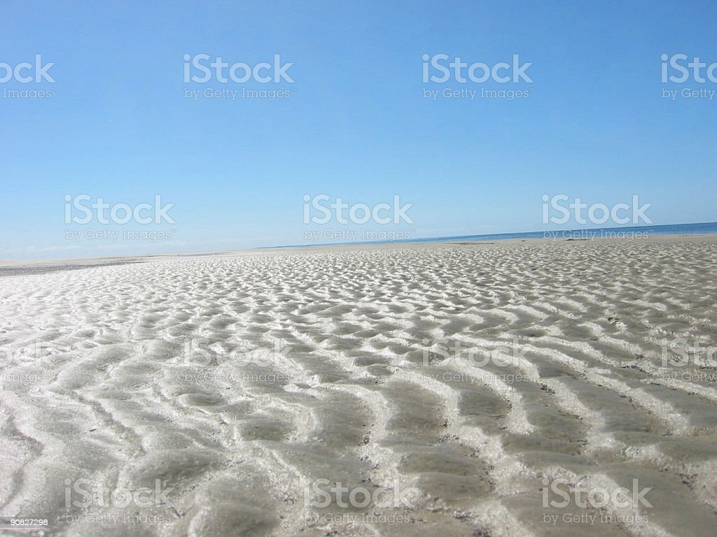 Sand Ripples & Skyscape royalty-free stock photo