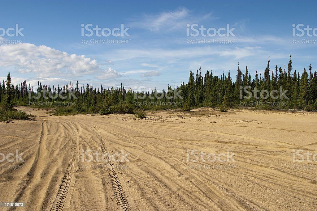 Sand Road - Goose Bay, Labrador royalty-free stock photo