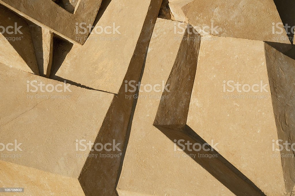 Sand sculpture abstract background royalty-free stock photo