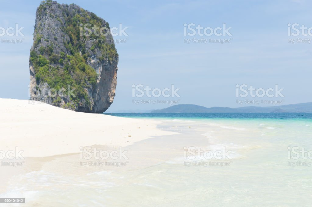 sand sea beach for background. stock photo