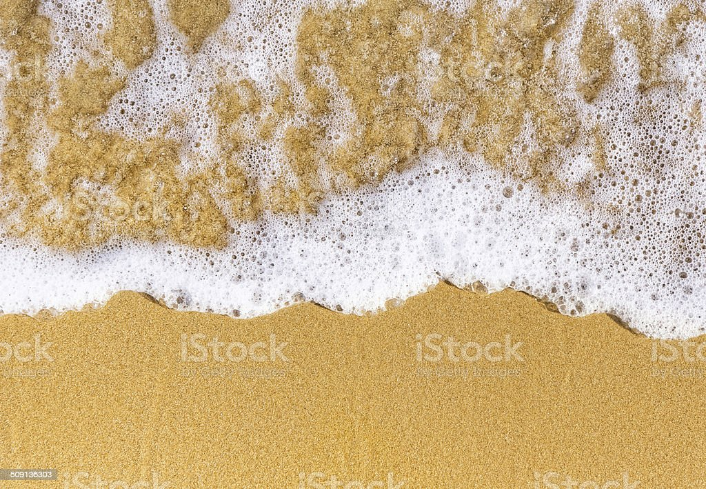 sand sea top view stock photo