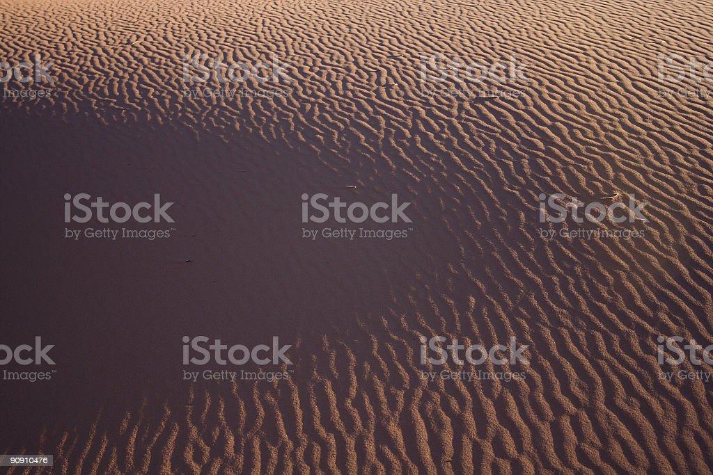 Sand shadows royalty-free stock photo