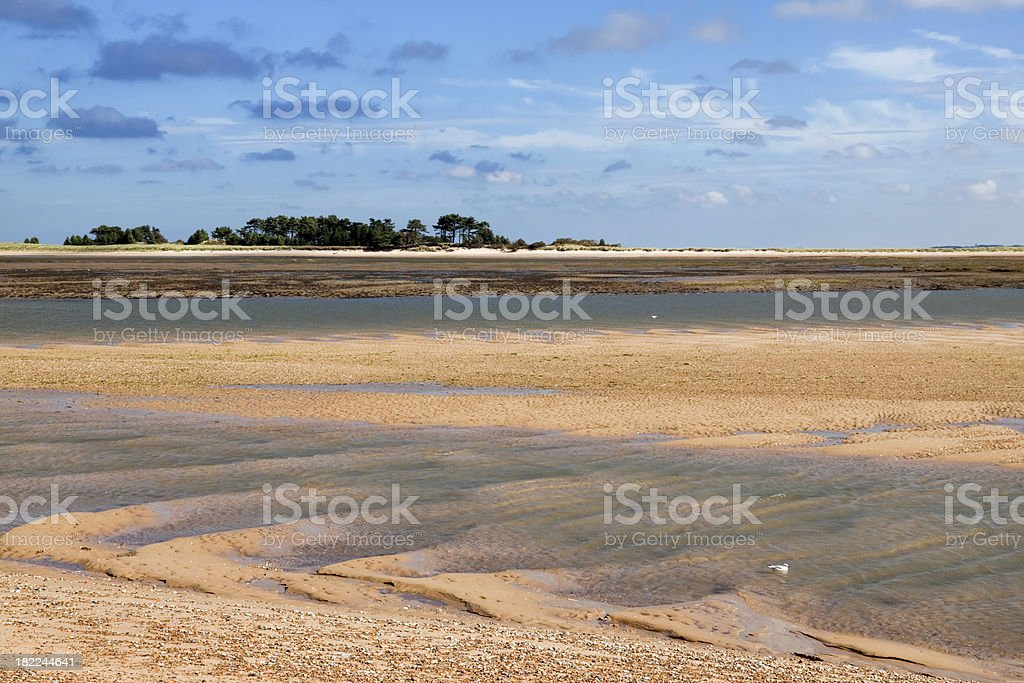 Sand shaped by tidal currents at Wells next the Sea royalty-free stock photo