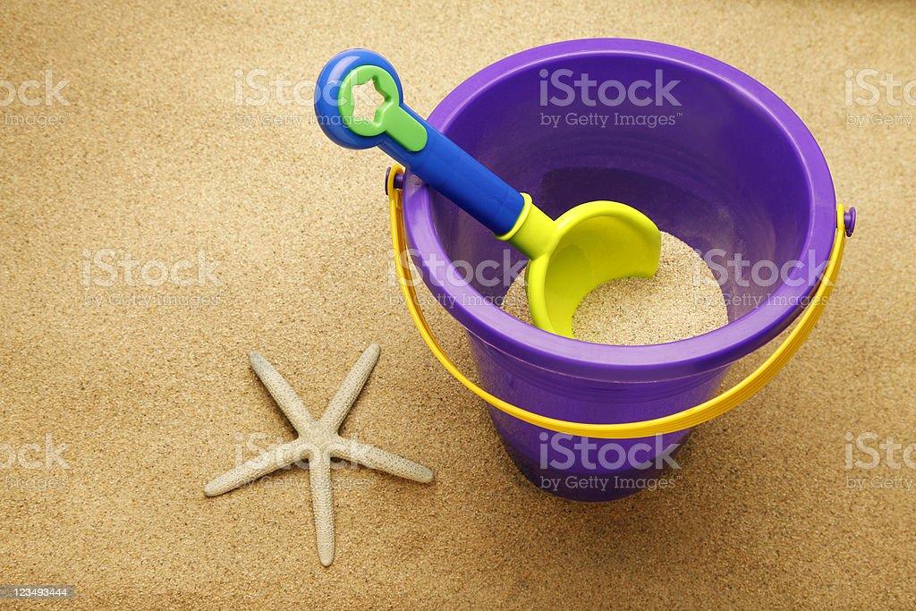 sand shovel and bucket royalty-free stock photo