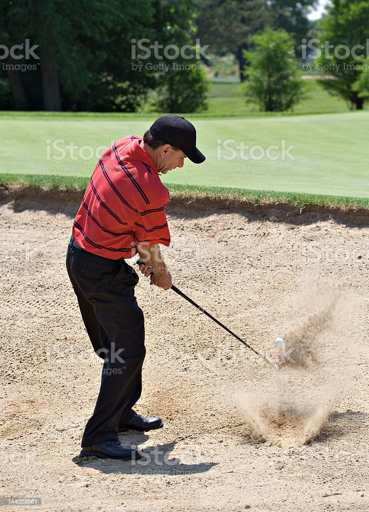 Sand Splash stock photo