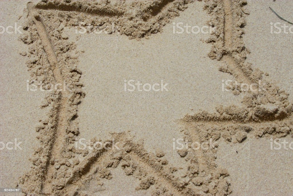 Sand Star royalty-free stock photo