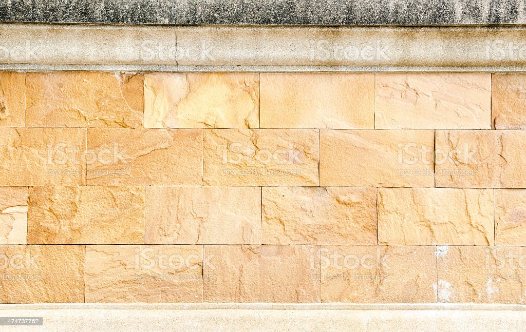 Sand stone brick wall,texture background stock photo