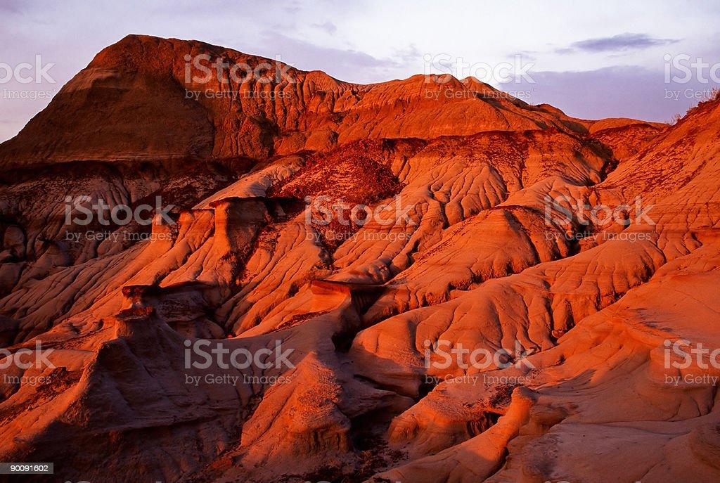 Sand stone hill stock photo