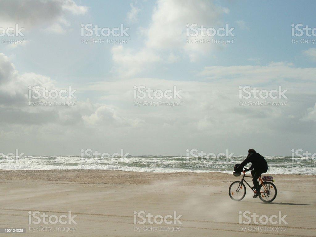 Sand storm stock photo