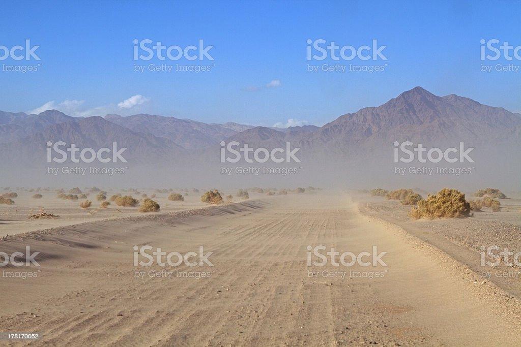 Sand storm #4 stock photo