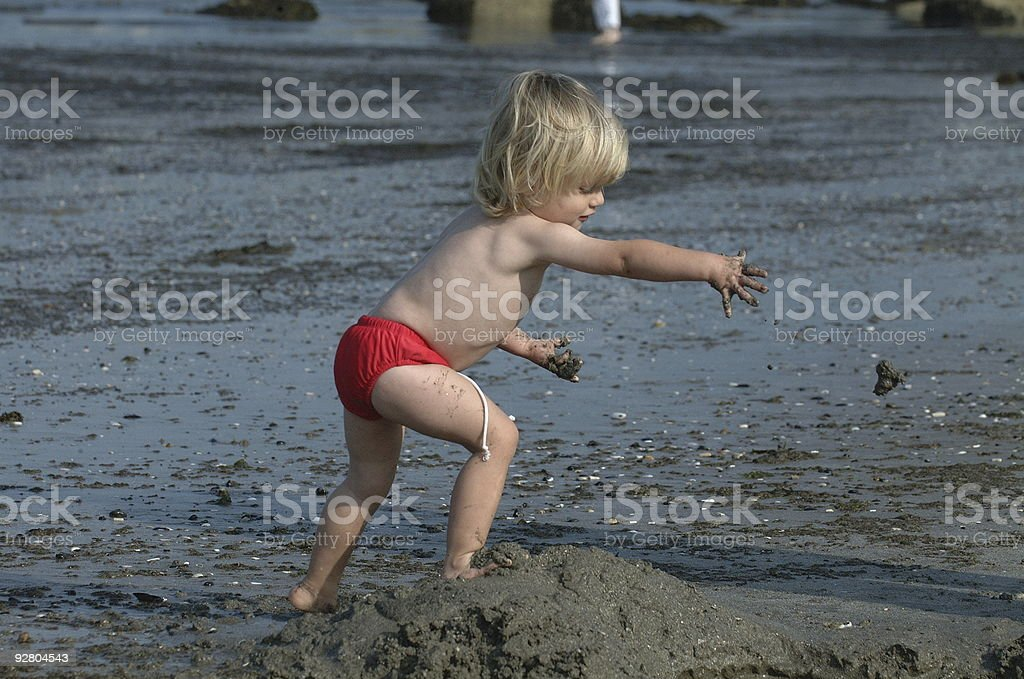Sand Thrower royalty-free stock photo