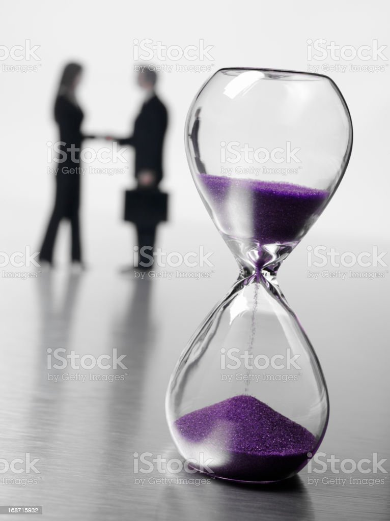 Sand Timer with Business People royalty-free stock photo
