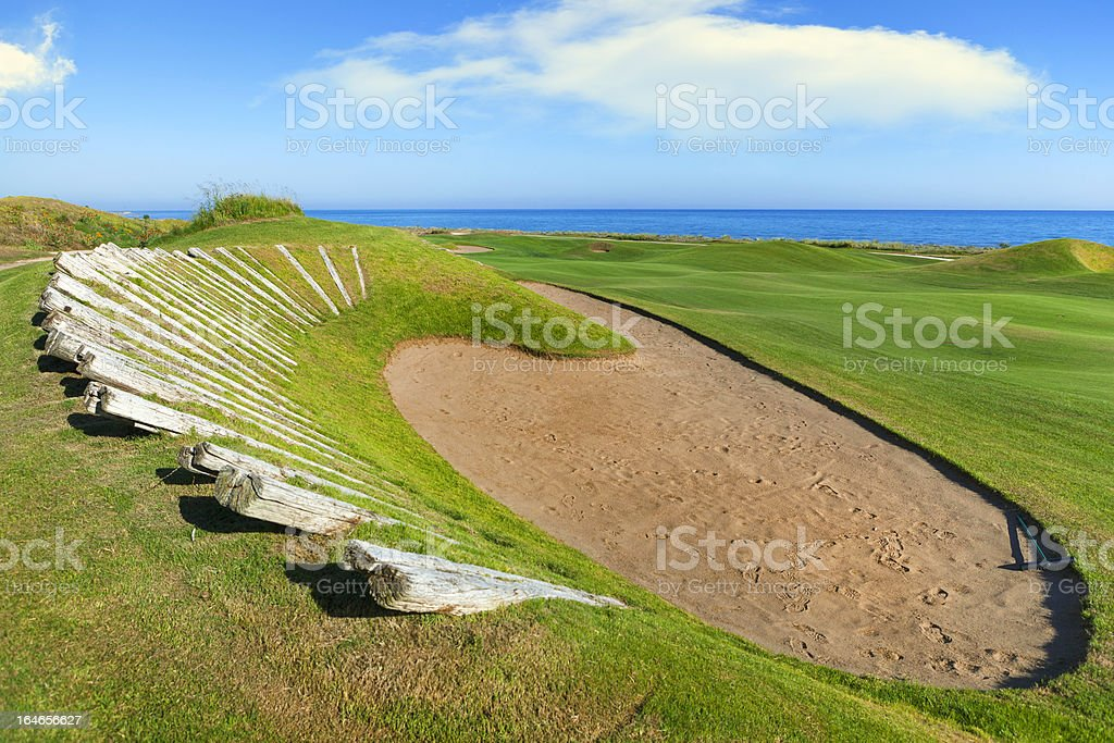 Sand Trap in Golf Course royalty-free stock photo