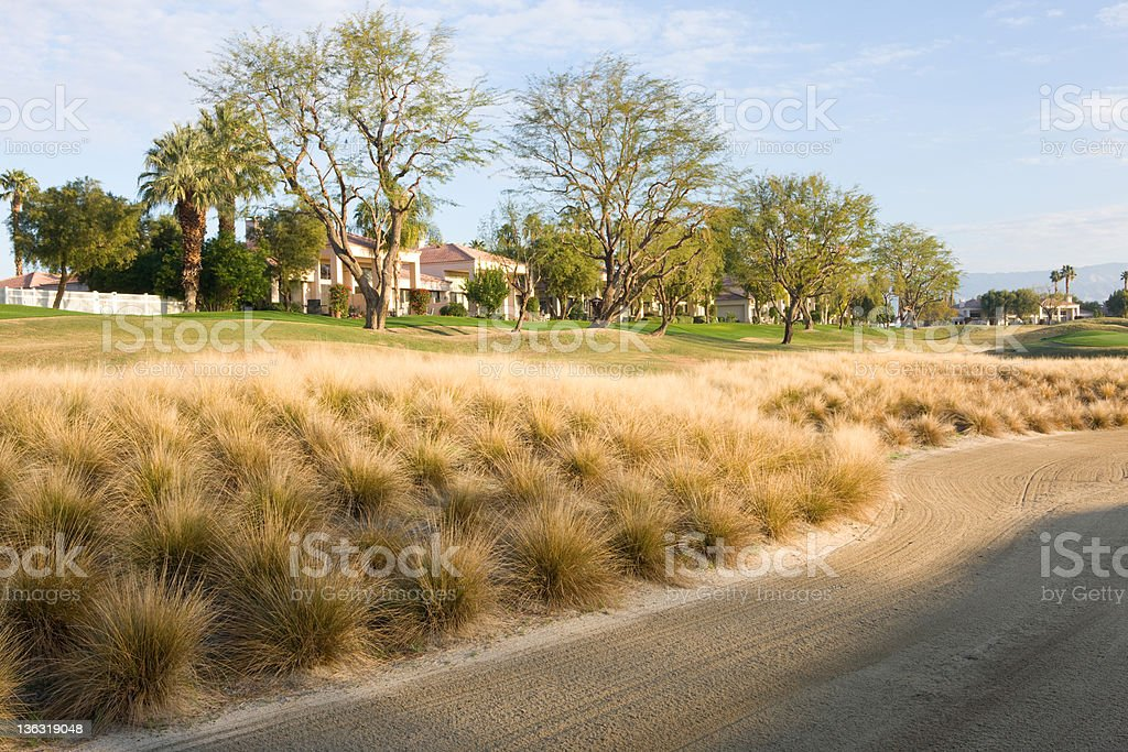 Sand Trap On Golf Course royalty-free stock photo