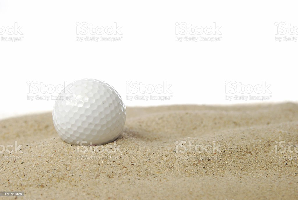 Sand trap royalty-free stock photo