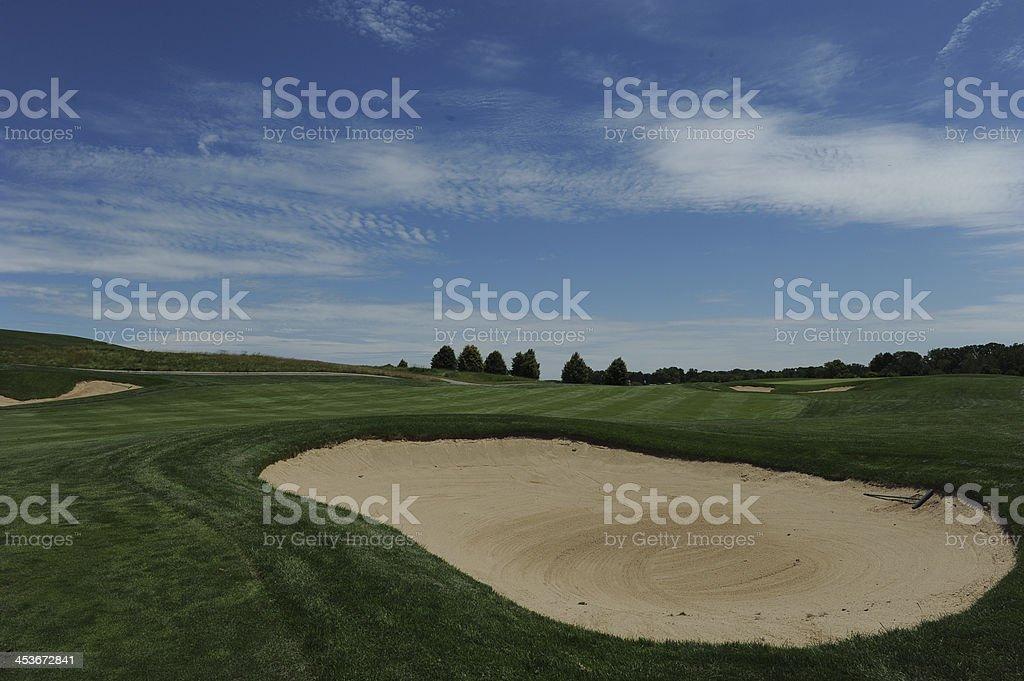 Sand Traps royalty-free stock photo