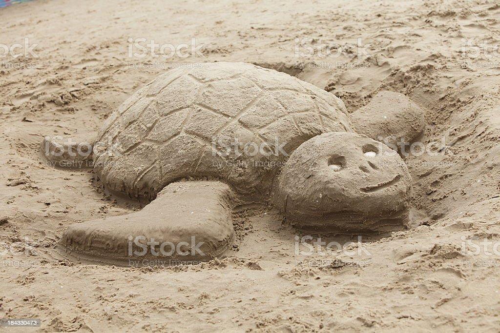 Sand turtle XXXL royalty-free stock photo