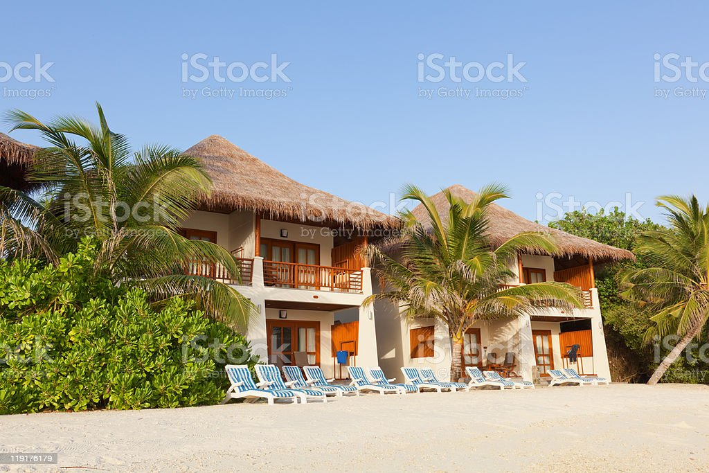 Sand Villas stock photo